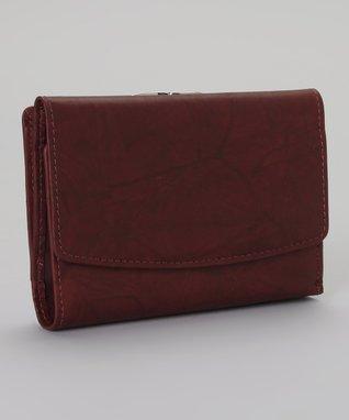 Mundi Burgundy Framed Indexer Wallet