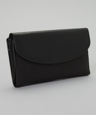Mundi Black Snap Triplex Wallet