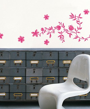 Pale Pink Orchids Wall Decal Set