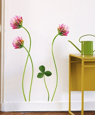 Pink Poppy Wall Decal Set