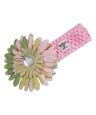 Light Pink Power Flower Stretch Bracelet