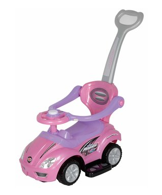 Best Ride On Cars Pink 3-in-1 Push Car