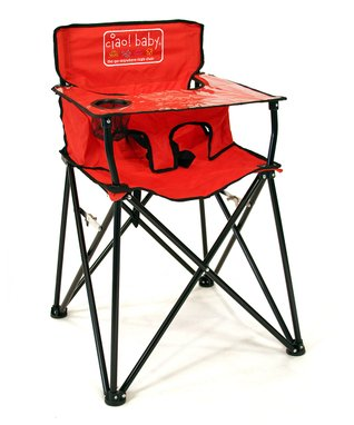 Red Travel High Chair