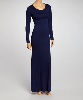 American Twist Navy Long-Sleeve Maxi Dress