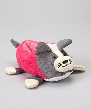 Chatties Gray Cat Plush Slipper