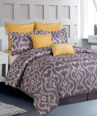 Orchid & Lemon Rampage Reversible Comforter Set