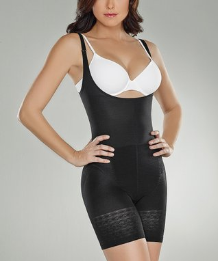 Black Thermal Under-Bust Shaper Bodysuit - Women