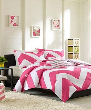 Pink Zigzag Brittany Comforter Set
