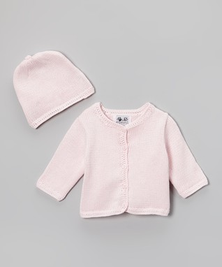 Pink Cardigan & Beanie - Infant & Toddler