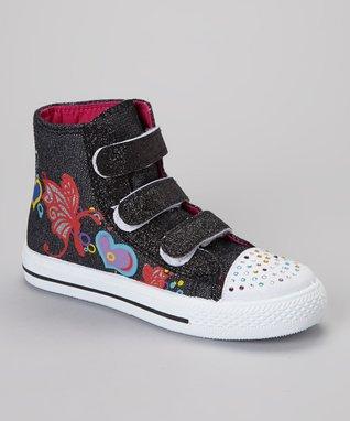 Ameta Corporation Black Adjustable Hi-Top Sneaker