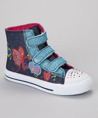 Collection'O Purple Leopard Hi-Top Sneaker
