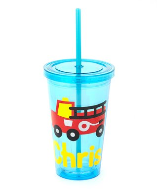 Fire Truck Personalized Tumbler