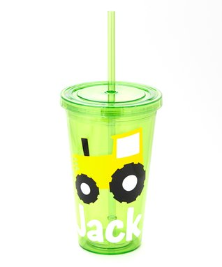 Green & Yellow Tractor Personalized Tumbler