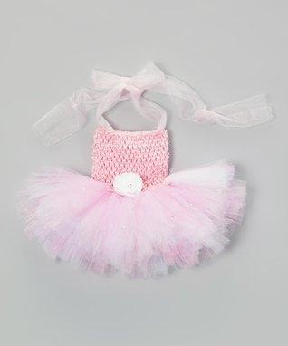 Pink Rhinestone Tutu Dress - Infant, Toddler & Girls