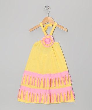 Aqua Butterfly Bow Dress - Toddler & Girls