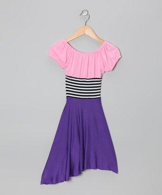 Yellow & Pink Halter Dress - Toddler & Girls