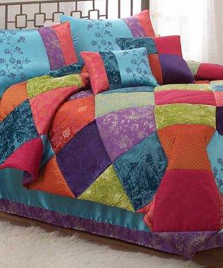 Bohemian Diamond Comforter Set