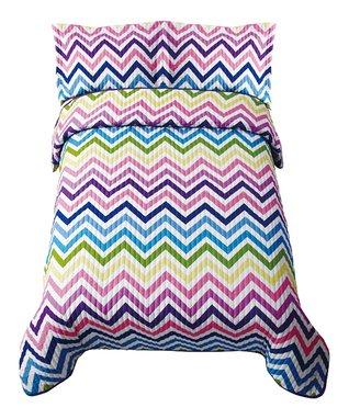 Rainbow Zigzag Comforter Set