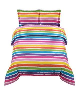 Purple & Orange Boho Comforter Set