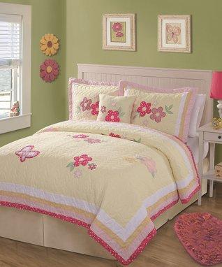 Yellow Blossom Quilt Set