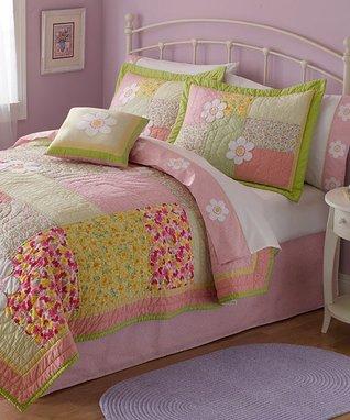 Pastel Floral Quilt Set