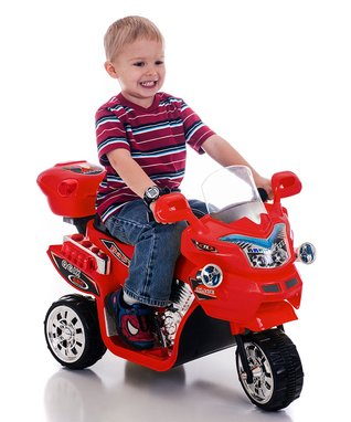 Lil' Rider Red FX 3 Motorcycle Ride-On