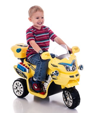 Lil' Rider Yellow FX 3 Motorcycle Ride-On