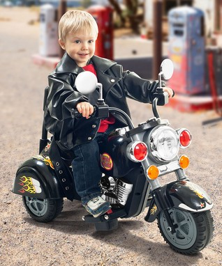 Lil' Rider Black Road Warrior Motorcycle Ride-On