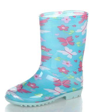 Jelly Beans Blue & Black Camo Rain Boot