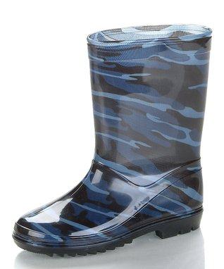 Foxfire Blue Buckaroo Rain Boot
