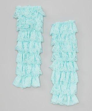 Tan Lace Ruffle Leg Warmers
