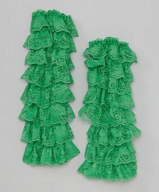 Periwinkle Lace Ruffle Leg Warmers