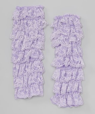 Ivory Lace Ruffle Leg Warmers