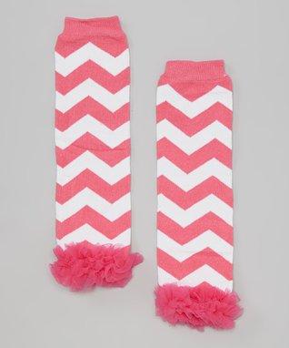 Light Pink Lace Ruffle Leg Warmers