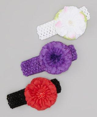 Fuchsia Rosette Ruffle Angel-Sleeve Dress - Toddler & Girls