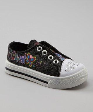 Kali Black Glitter Slip-On Sneaker