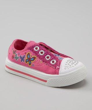 Kali Pink Glitter Slip-On Sneaker