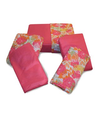 Light Pink Lacy Floral Rampage Sheet Pack - Set of Two