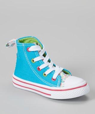 Chatties Turquoise Polka Dot Sneaker