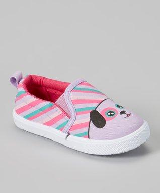 Chatties Tan & Pink Leopard Boat Shoe