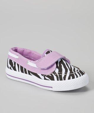 Chatties Gray & White Leopard Hi-Top Sneaker
