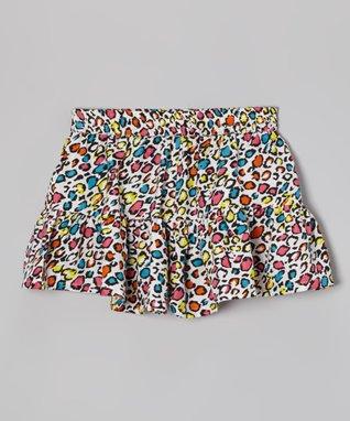 Apollo White Leopard Skooter Skirt - Girls