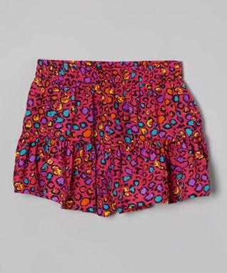 Apollo Pink & Blue Floral Dress - Girls