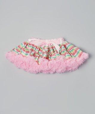 Hot Pink & Lime Zigzag Bow Pettiskirt - Infant, Toddler & Girls