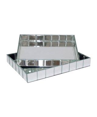 Beveled Mirror Tray Set