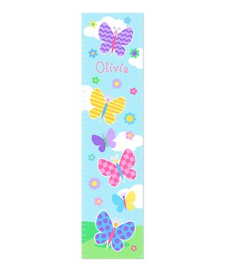 Butterfly Garden Personalized Growth Chart Wall Decal