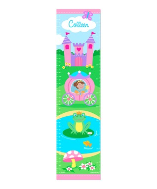 Brown-Haired Princess Personalized Growth Chart Wall Decal