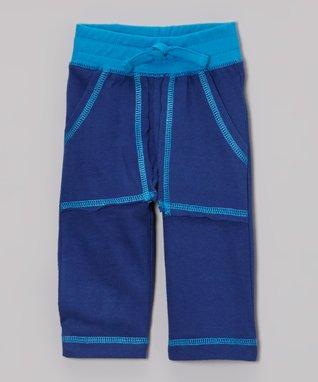 Tumblewalla Green & Blue Organic Pants - Infant & Toddler