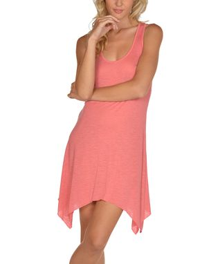Coral Sidetail Dress