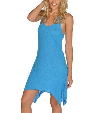 Blue Sidetail Dress